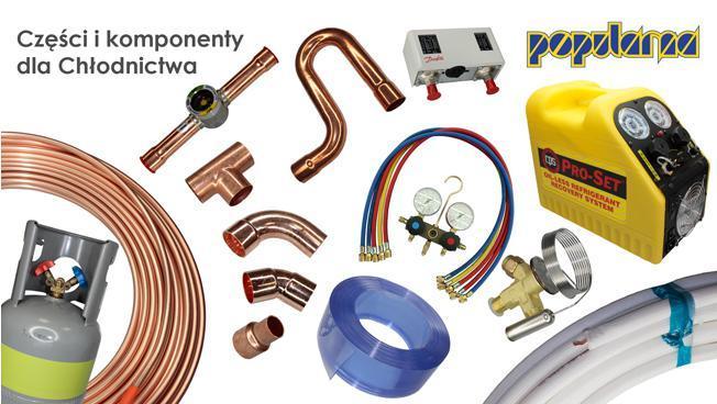 Komponenty do budowy urządzeń i układów chłodniczych